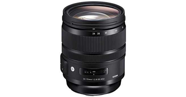 Sigma 24-70mm f/2.8 DG OS HSM Art Lens for Canon - Best Sigma Lenses For Canon